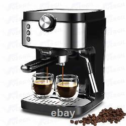 20 Bar Coffee Machine with Milk Frother Wand Espresso Cappuccino Latte Mocha Maker