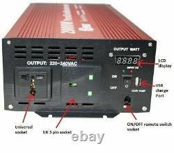 2000W (4000W Peak) DC 24V AC 240V PURE SINE WAVE POWER INVERTER coffee machine
