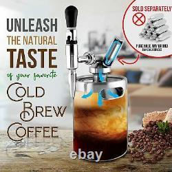 2L Nitro Cold Brew Coffee Maker Machine Stainless 304 Nitrogen Keg Kitchen Bar