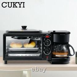 3 In 1 Bread Coffee Making Home Cooking Nutrition Frying Household Cook Machine