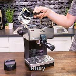 4-Cup Steam Espresso Maker Coffee Machine Expresso Milk Frother Easy Serving NEW