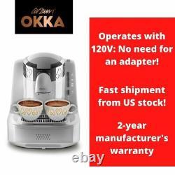Arzum Okka Automatic Turkish/Greek Coffee Maker, Machine, USA 110/120V UL, White