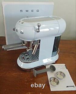 Blue SMEG 50's Retro Style Aesthetic Espresso Coffee Machine 1300W