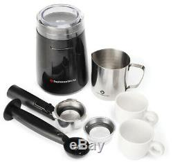 Cappuccino Maker Bean Grinder Coffee Espresso Machine Steamer Frother Cups
