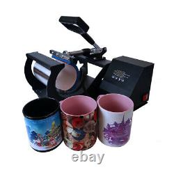 Combo 4in1 Mug Heat Press Sublimation Machine for 6oz-17oz DIY Coffee Latte Cup