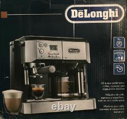 DeLonghi BCO430BC Combo Pump Espresso and 10-Cup Drip Coffee Machine with Frother