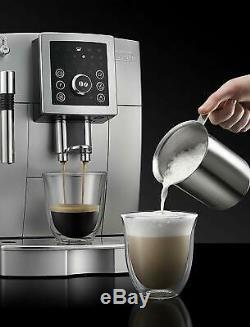 Delonghi ECAM23210SB Super Automatic Espresso Cappuccino Coffee Machine, Silver