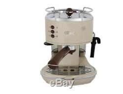 Delonghi Icona Vintage ECOV 311 Coffee Machine 220V 1000W Auto-Off UPS Cream