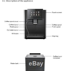 Fully automatic Coffee Machine produces more than 8 different coffee flavours
