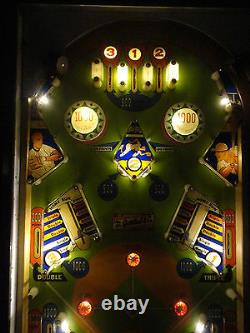 Gottlieb Batter Up Pinball Machine LED Coffee Table & Side Table Functional Art