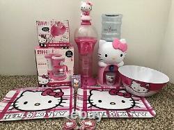 Hello Kitty Bundle Gum Ball Machine, Hand mixer, Water Dispenser, Coffee Maker