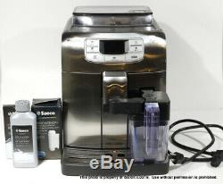 INTELIA SAECO HD8753 ONE TOUCH CAPPUCCINO COFFEE MAKER MACHINE Black