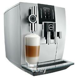JURA J6 Coffee Machine Brilliant Silver Fully Automatic Espresso Maker NEW