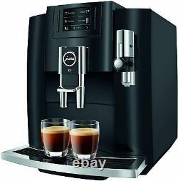 Jura E8 Piano Black Automatic Coffee Machine, Latest version
