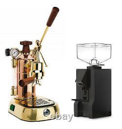 La Pavoni Professional PRG Espresso Coffee Machine & Eureka Mignon Manuale Set