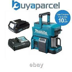 Makita DCM501 10.8v / 18v CXT LXT Cordless Coffee Maker Machine + 10.8v Battery