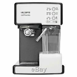 Mr. Coffee Café Barista BVMCECMP1102 Premium Espresso & Cappuccino Machine-White