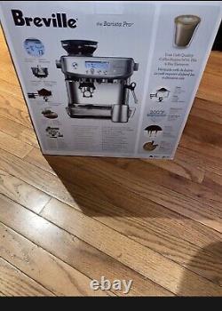 NEW Breville Barista BES878BTR Pro Espresso Maker Black Truffle Coffee Machine