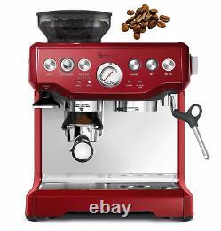 NEW Breville Red Barista Express Coffee Machine & Espresso Maker