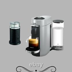 Nespresso Delonghi ENV155SAE VertuoPlus Deluxe Coffee Espresso Machine, Silver