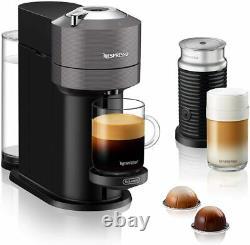 Nespresso Vertuo Next Premium Coffee Machine Grey with Aeroccino 3 Milk Frother