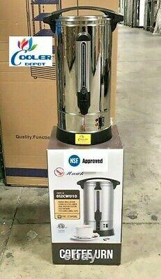 New 100 Cup Electric Coffee Maker Urn Machine Stainless Brewer Cafe Office NSF
