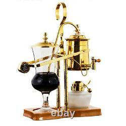 New Gold Royal Family Balance Syphon Coffee Maker Set Thermosta Coffee Machine