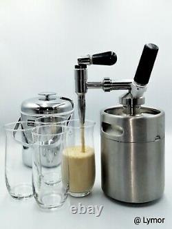 Nitro Cold Brew Coffee Maker Machine 64 Oz Stainless Nitrogen Infuser Coffee Keg