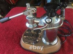 Old Vintage La Pavoni Espresso Coffee Chrome Machine Made In Italy