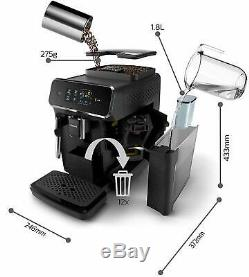 PHILIPS EP 2220/10 Panarello fully automatic coffee machine in black finish