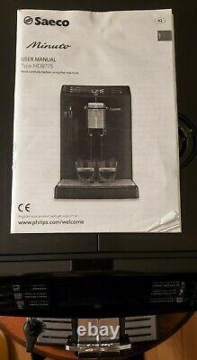 Philips Saeco Minuto HD8775/48 Superautomatic Espresso Machine & Coffee Maker