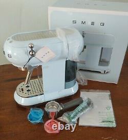 READ DESCRIPTION BLUE, SMEG 50's Retro Aesthetic Espresso Coffee Machine