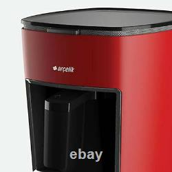 RED Arcelik Telve k3300 Beko Full Automatic Turkish Greek Coffee Maker Machine