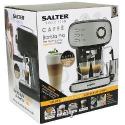 Salter 15-Bar Cafe Barista Pro Coffee Machine Latte Espresso Maker Milk Frothing