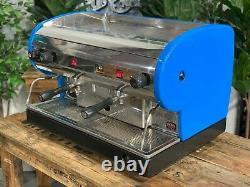 San Marino Lisa 2 Group Blue Semi Automatic Espresso Coffee Machine Commercial