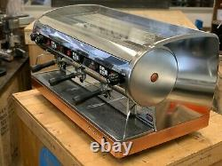 San Marino Lisa 3 Group Stainless Brass Base Espresso Coffee Machine Commercial