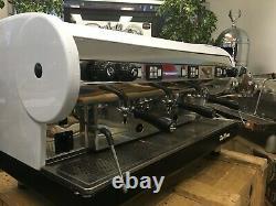 San Marino Lisa 3 Group White Espresso Coffee Machine Commercial Wholesale Cafe