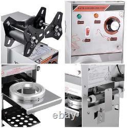 Semi Automatic Electric Sealing Machine Cup Sealer Boba Tea Coffee Cafe Black