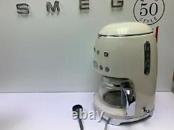 Smeg DCF01CRUK 50's Retro Cream Drip Coffee Machine, Customer Return
