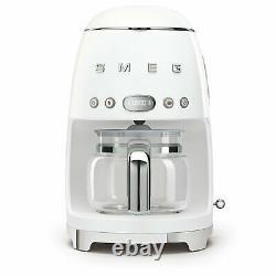 Smeg DCF01WHUK 50's Retro White Drip Coffee Machine, Customer Return