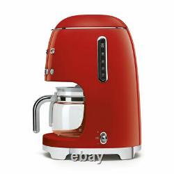 Smeg DCF02RDUK Red 50s Retro Style Filter Coffee Machine + 2 Year Warranty (New)