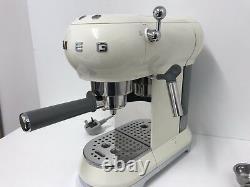 Smeg ECF01CRUK 50's Retro Cream Espresso Coffee Machine, Customer Return, Dented