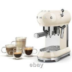 Smeg ECF01CRUK Espresso Cream Coffee Machine 2 Year Warranty (Brand New)