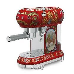 Smeg ECF01DGUS Dolce & Gabbana Espresso Coffee Machine, Sicily is my love