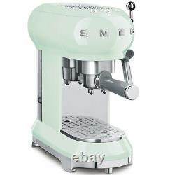 Smeg ECF01PGUK 50's Retro Pastel Green Espresso Coffee Machine, Used