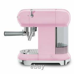 Smeg ECF01PKUK Pink Espresso Coffee Machine 15 Bar + 2 Year Warranty (Brand New)
