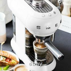 Smeg ECF01WHUK White Espresso Coffee Machine 2 Year Warranty (Brand New)