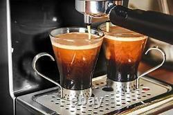 Swan Pump Espresso Coffee Machine, 15 Bars of Pressure, Milk Frother, 1.2L Tank