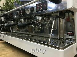 Wega Atlas 3 Group White Espresso Coffee Machine Commercial Cafe Barista Beans